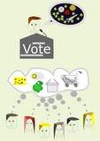 Du måste rösta, royaltyfri illustrationer