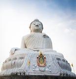 Duża marmurowa Buddha statuy Phuket wyspa, Tajlandia Obraz Royalty Free