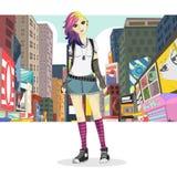 Duża miasto dziewczyna Fotografia Stock