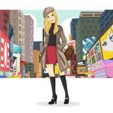 Duża miasto dziewczyna Obraz Royalty Free