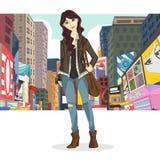 Duża miasto dziewczyna Obraz Stock