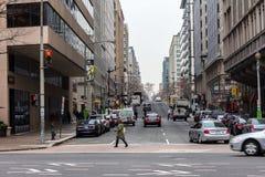 Duża miasto ulicy scena Fotografia Stock