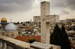 Du mont Scopus, Jérusalem, la Terre Sainte Images stock