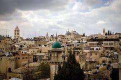 Du mont Scopus, Jérusalem, la Terre Sainte Photographie stock
