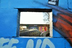 Du mur au mur image stock
