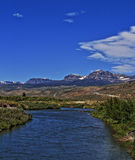 Du Noir Creek just outside of Dubois Wyoming with Breccia Cliffs and Breccia Peak Stock Images