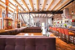 Duża nowa restauracja Fotografia Stock