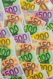 dużo banknotów euro Zdjęcia Royalty Free