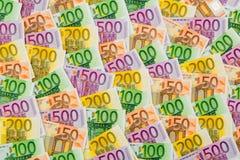 dużo banknotów euro Fotografia Stock
