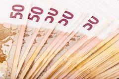 dużo banknotów euro Obraz Royalty Free