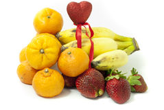 Du panier des fruits Images stock