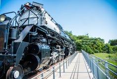 Duża parowa lokomotywa na pokazie fotografia royalty free