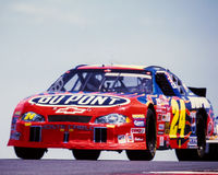 #24 Du Pont Chevrolet Monte Carlo Car, guidato da Jeff Gordon Immagini Stock
