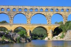 du pont Gard Obraz Stock