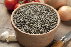 Du Puy lentils. In a bowl Royalty Free Stock Photos