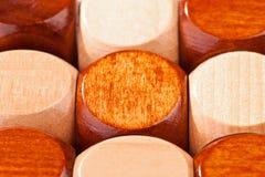 Du puzzle 3D en bois Photographie stock