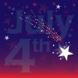 Du quatrième célébration juillet Images stock