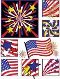 Du quatrième couleurs Célébration-Solides juillet Illustration Stock