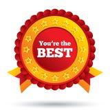 Du är den bästa symbolen. Kundtjänstutmärkelse. Arkivbilder