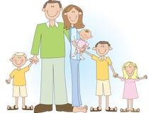 duża rodzina Zdjęcia Royalty Free