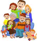 Duża rodzina z dziadkami Zdjęcie Royalty Free