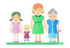 Duża rodzinna dziewczyna i kobieta Obraz Stock