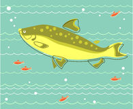 Duża ryba ilustracji
