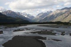 Duża rzeka w patagonia Obraz Stock