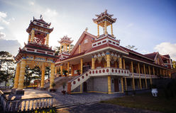 0028-Du Sinh - oosterse stijlkerk - Dalar-stad Stock Afbeelding