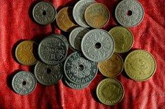 Duńska monety waluta Zdjęcia Stock
