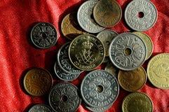 Duńska monety waluta Fotografia Stock