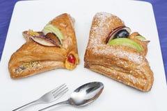 Duński ciasto na talerzu Fotografia Royalty Free