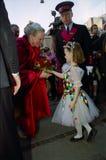 DUŃSKI rodzin królewskich wizyt TIVOLI ogród Obrazy Royalty Free