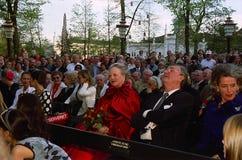 DUŃSKI rodzin królewskich wizyt TIVOLI ogród Zdjęcie Stock