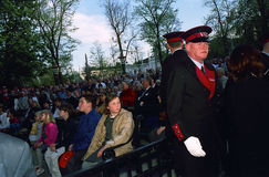 DUŃSKI rodzin królewskich wizyt TIVOLI ogród Zdjęcia Stock