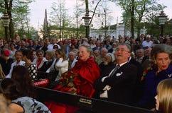 DUŃSKI rodzin królewskich wizyt TIVOLI ogród Obraz Stock