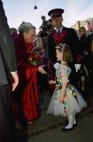DUŃSKI rodzin królewskich wizyt TIVOLI ogród Obrazy Stock