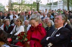 DUŃSKI rodzin królewskich wizyt TIVOLI ogród Fotografia Royalty Free