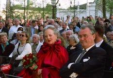 DUŃSKI rodzin królewskich wizyt TIVOLI ogród Zdjęcia Royalty Free