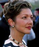 DUŃSKI rodzin królewskich wizyt TIVOLI ogród Obraz Royalty Free