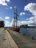 Duński statek Zdjęcia Stock