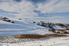 Duński zima krajobraz Fotografia Royalty Free