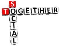 du Social 3D mots croisé ensemble Photo libre de droits