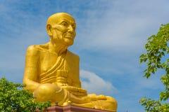 Duża statua Luang Phor Thuad w Ang pasku, Tajlandia Fotografia Royalty Free