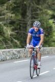 彻尔du Tourmalet -环法自行车赛的Mickael德拉热2014年 免版税库存图片
