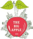 Duży Apple, Miasto Nowy Jork Obraz Royalty Free