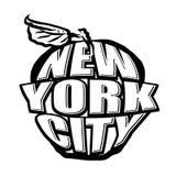 Duży Apple NYC logo Fotografia Royalty Free