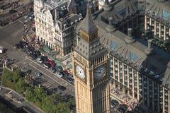 duży Ben powietrzny widok Obrazy Royalty Free