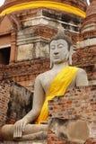 Duży Buddha w Wacie Yai Chaimongkol, Ayutthaya Obrazy Stock