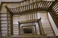 duży budynek po schodach Obrazy Royalty Free